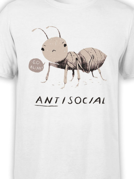 0969 Funny Shirts ANTisocial Front Color