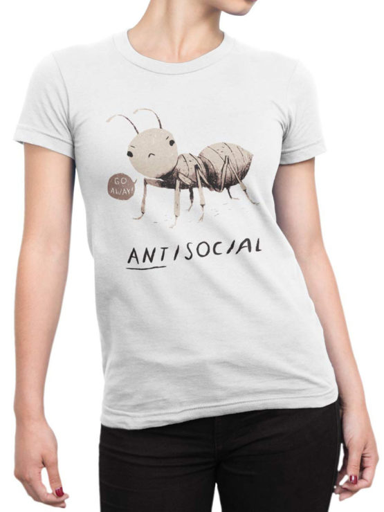 0969 Funny Shirts ANTisocial Front Woman