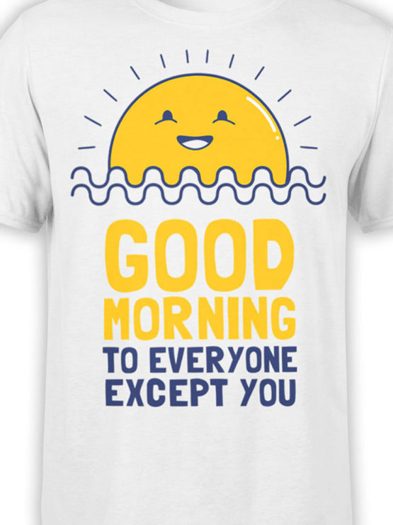 0974 Funny T Shirts Good Morning Front Color