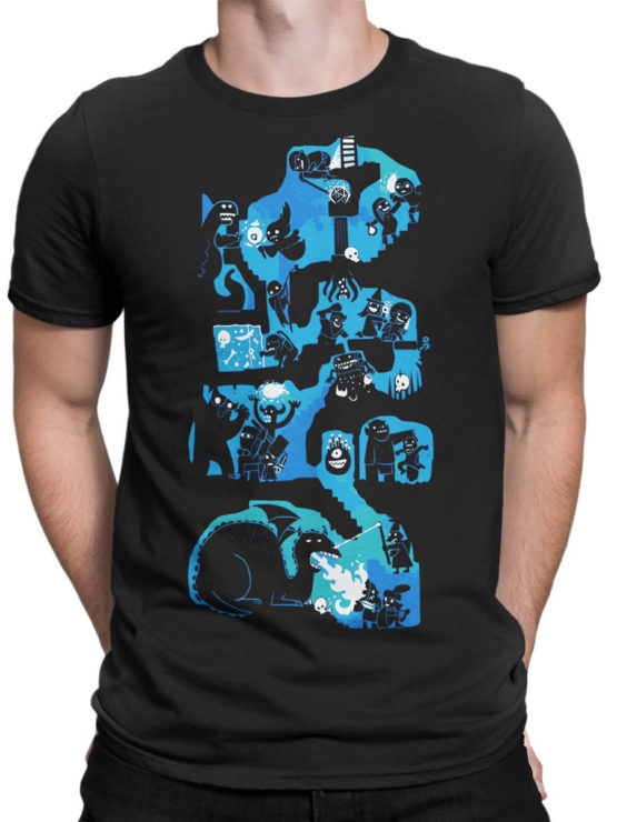0977 Games T Shirts Dungeons And Dragons Front Man