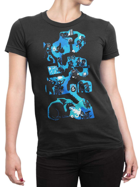 0977 Games T Shirts Dungeons And Dragons Front Woman