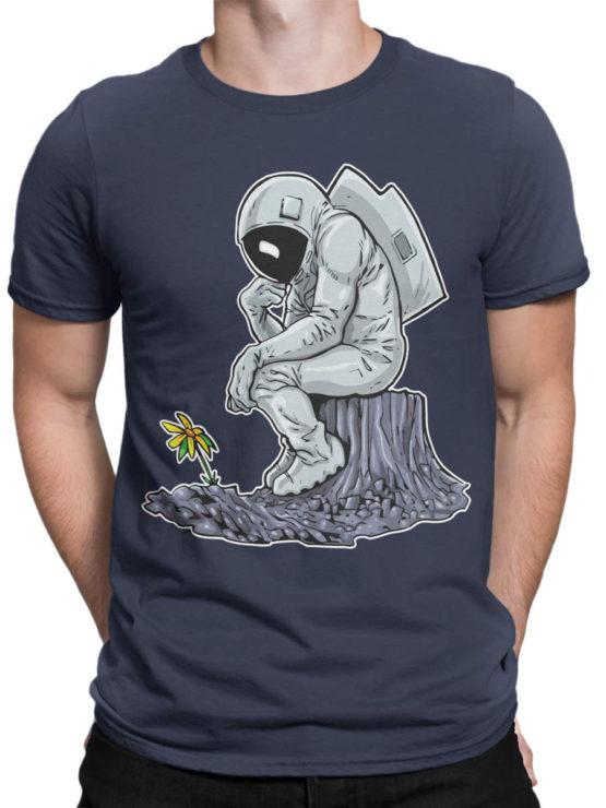 0978 NASA T Shirts The Thinker Front Man
