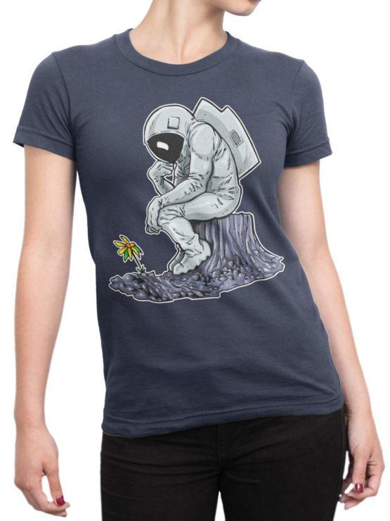 0978 NASA T Shirts The Thinker Front Woman