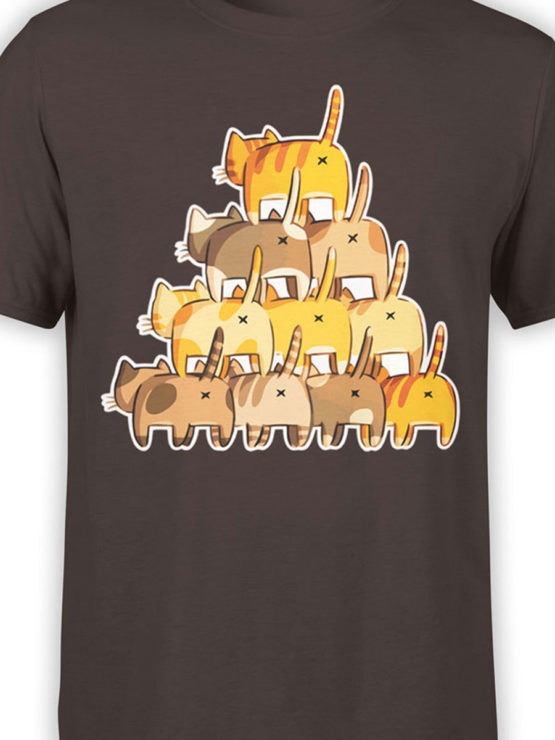 0983 Cat Shirts Butt Pyramid Front Color